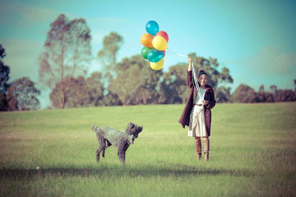 Dogs love balloons - Photography