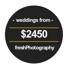 wedding pricing melbourne