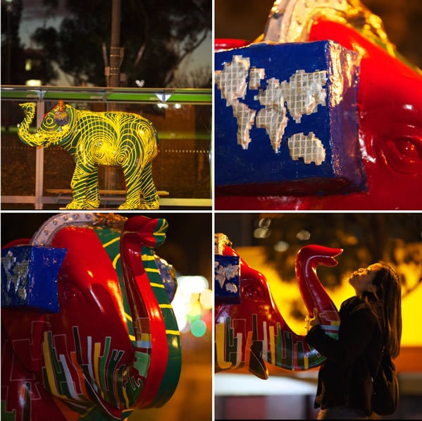 Elephants all over Melbourne