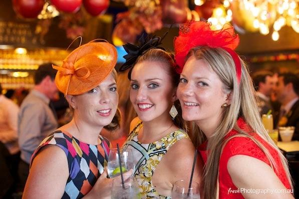Girls at Melbourne Cup - Birdcage