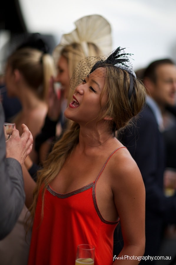 Girl at Melbourne Cup