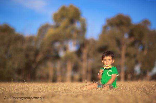 Open field - kids lollipop photoshoot - dreamy sunset