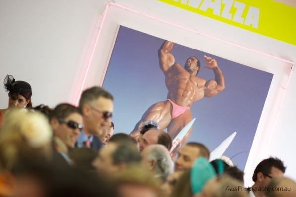 Lavazza Muscle Man at Melbourne Cup - Birdcage events
