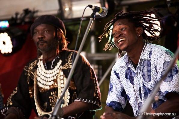 African drums at Manningham Cultural festival