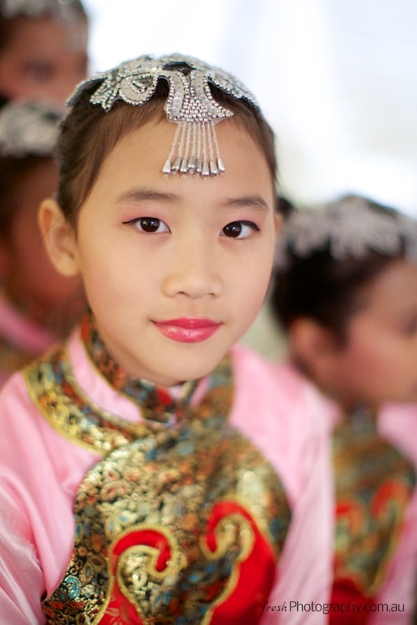 Chinese girl at cultural Festival in Melbourne