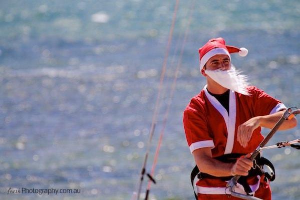 Summer Beach Santa