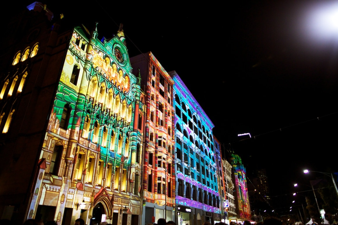 Melbourne hosts it's first White Night - Concerts - Lightshows - Dance and lots of fun