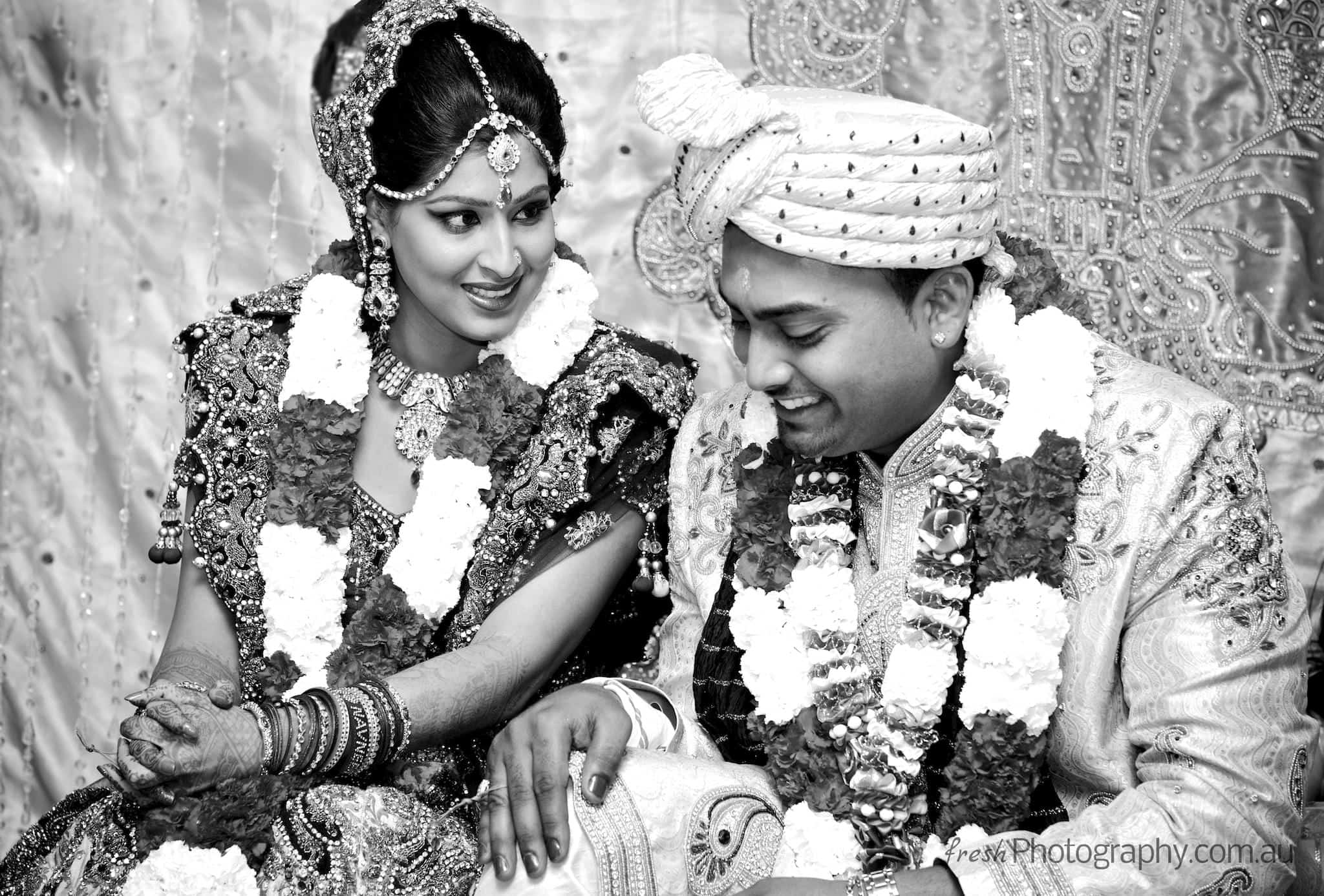 indian wedding ceremony - Newley wed couple