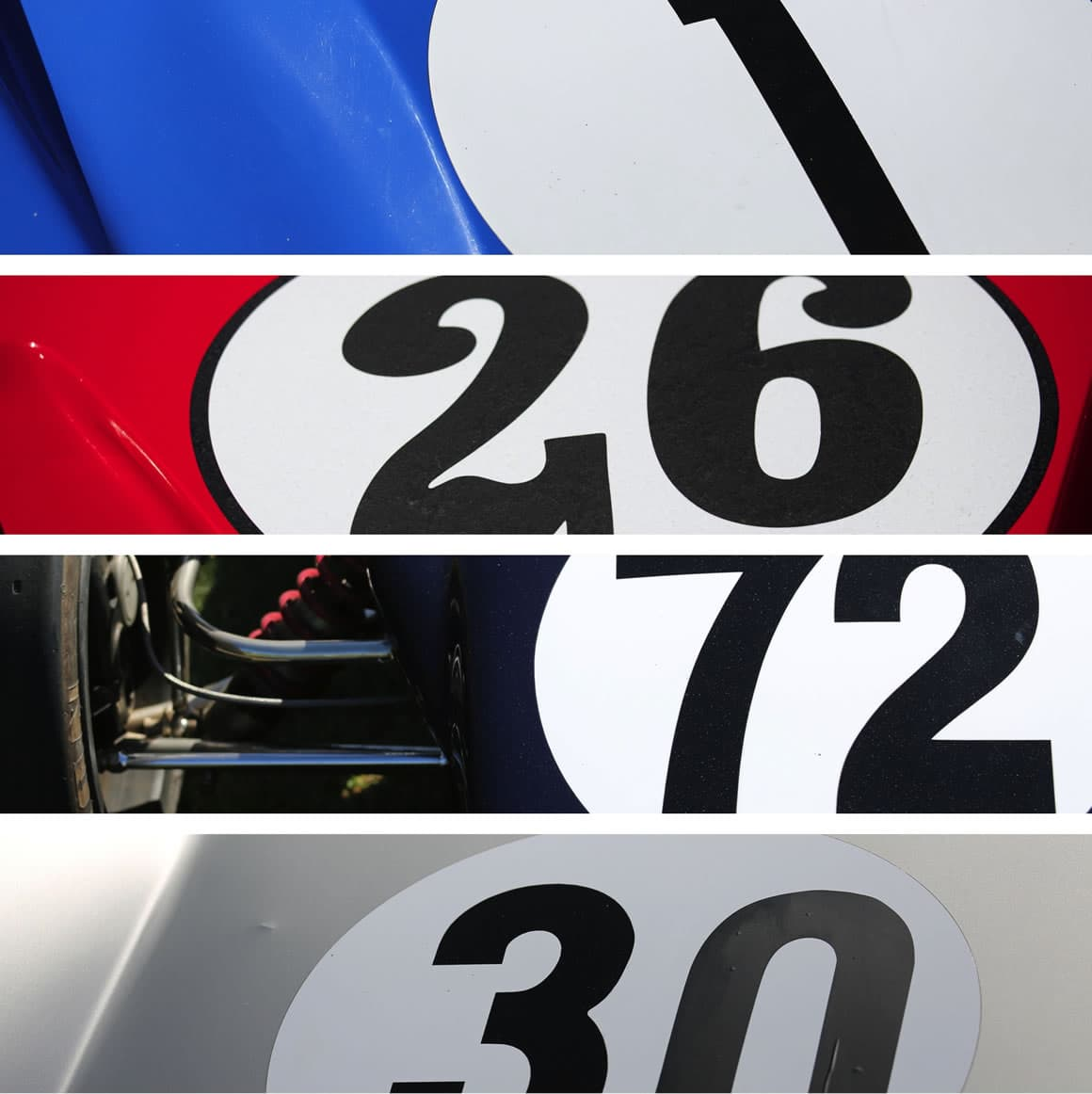 starting numbers Formula1 Melbourne