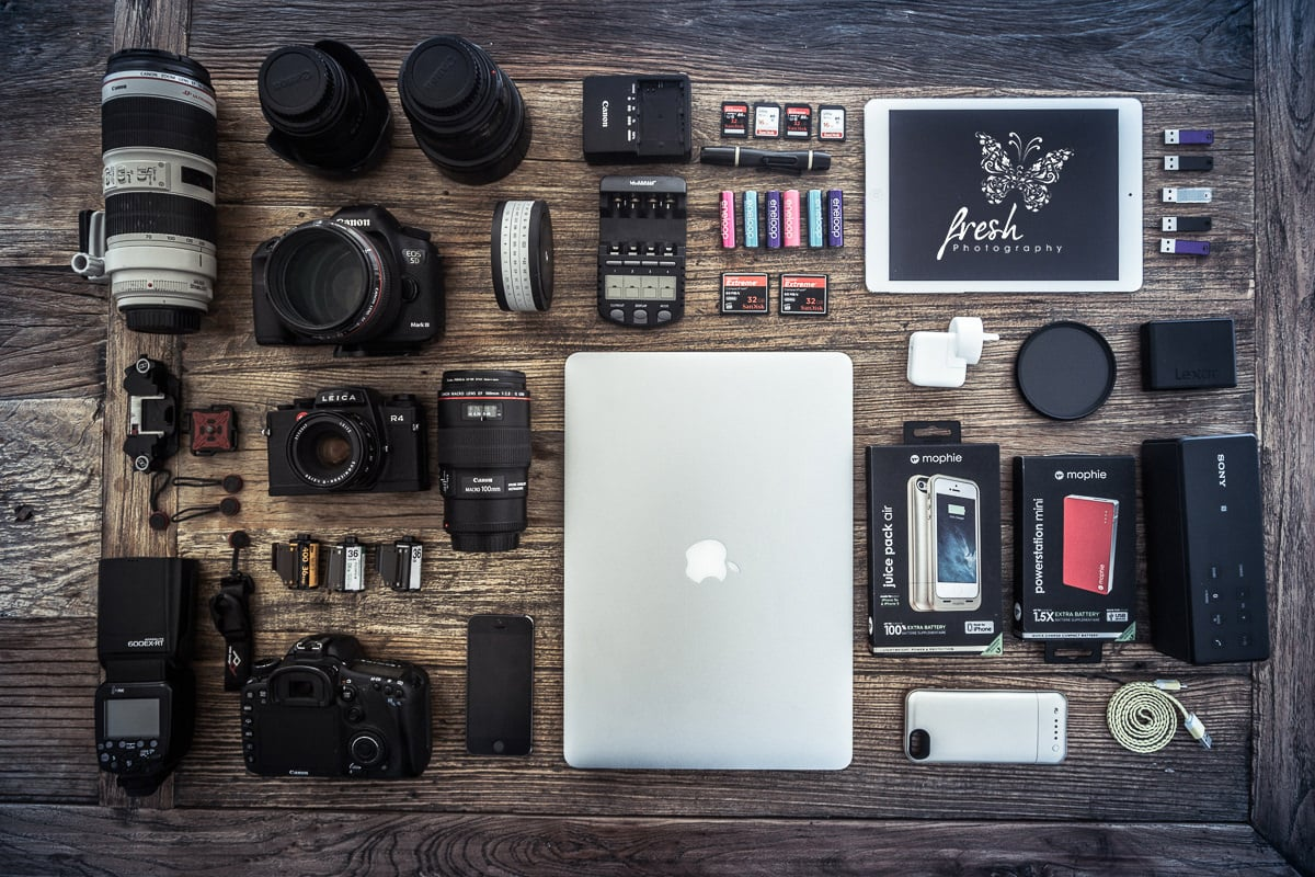 What is in our photo bag - photography equipment in Melbourne