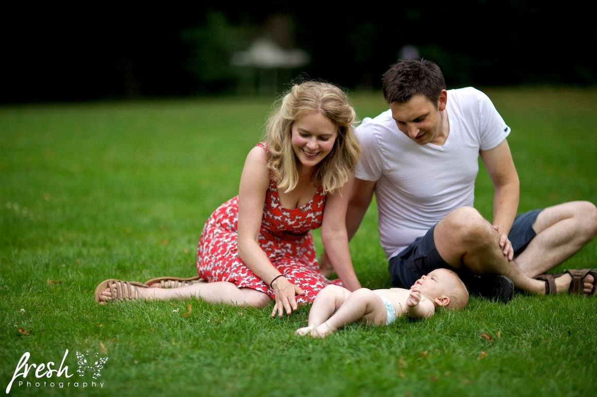 playing in the park with baby