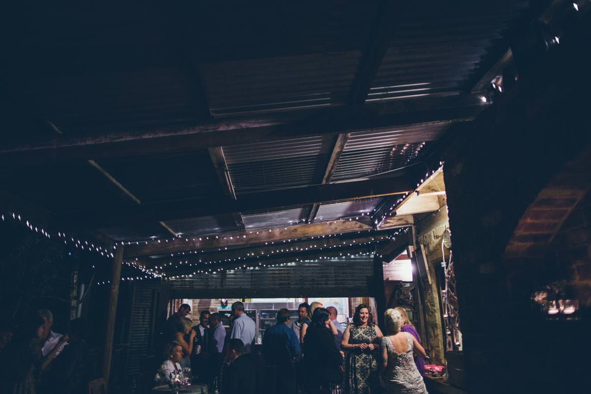 fairy lights at farm wedding near melbourne, australia