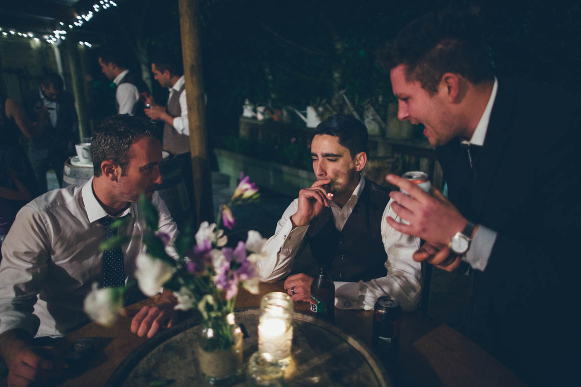 cigar at wedding