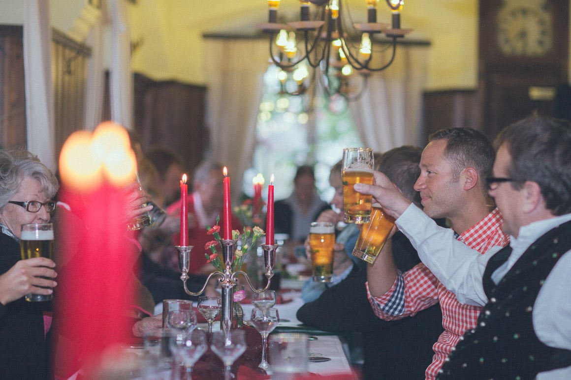 beer at wedding