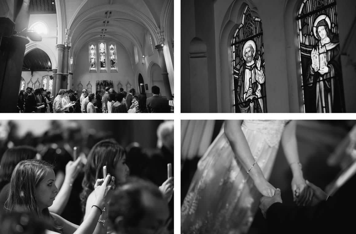 wedding reportage - church south melbourne