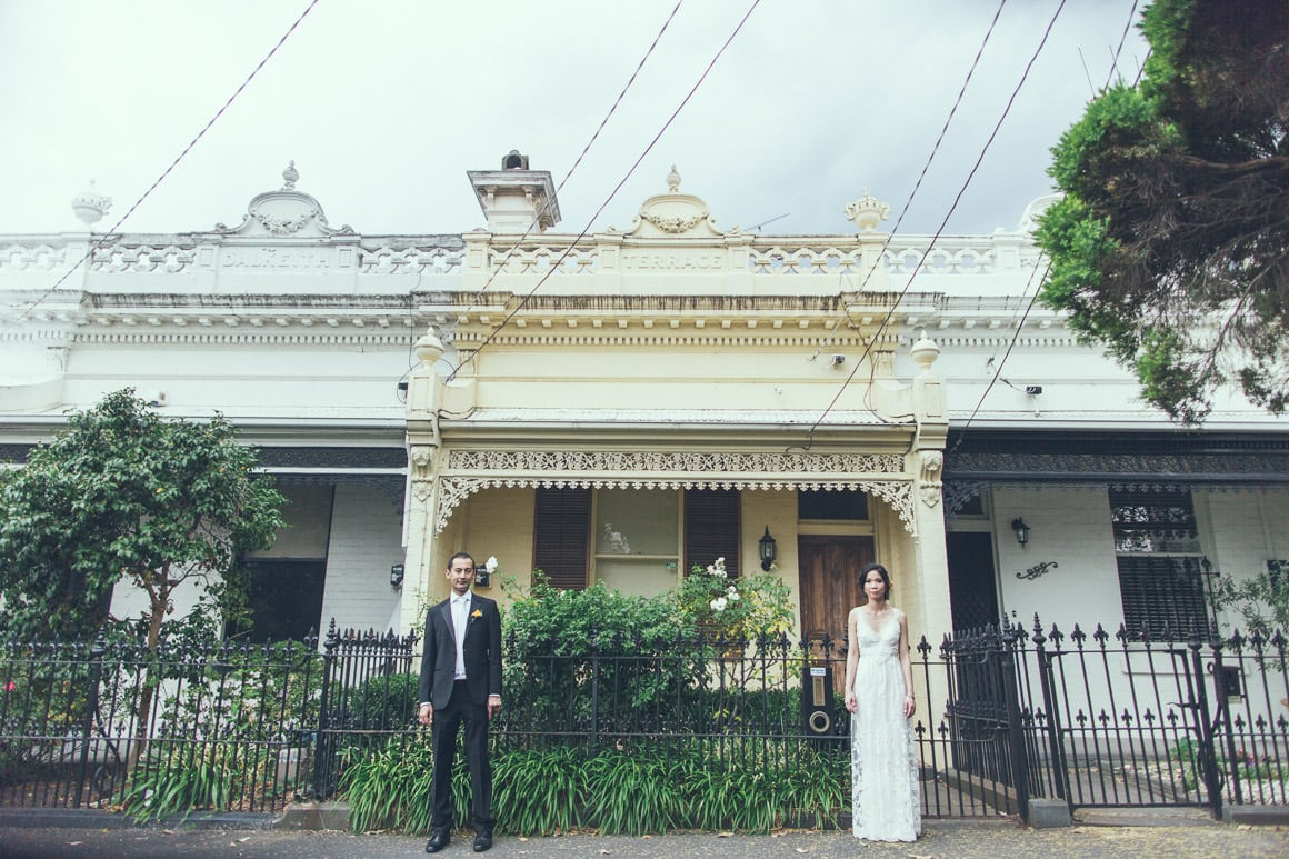 Melbourne cbd wedding photographer for Terrace homes