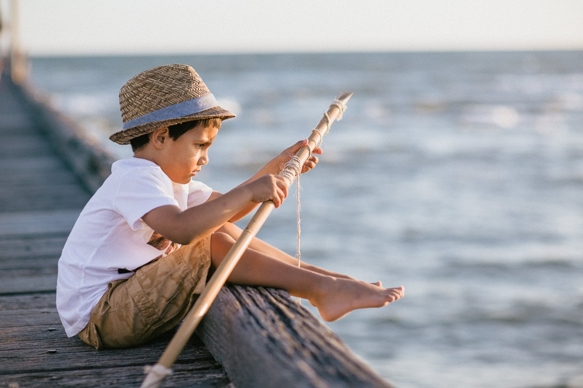 Kids Photography - Melbourne - Pier at the Beach - Fishing