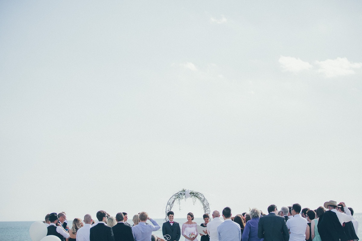 on the pier - sunny ceremony in style - weddings in melbourne photography by fresh photography