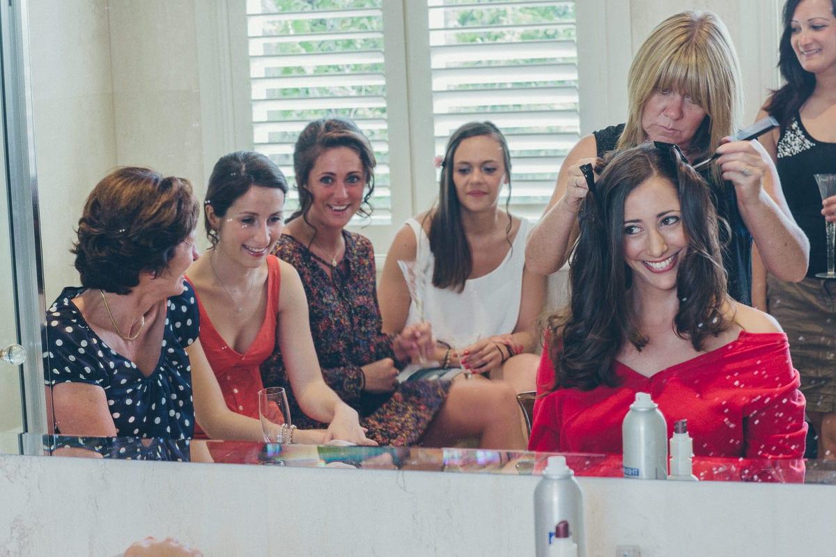 fun at weddings - getting ready - make up
