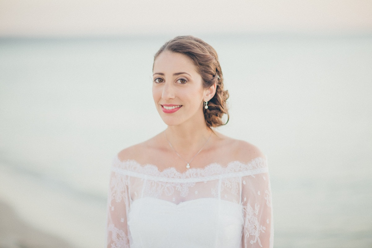 stunning bride - beautiful french bride in melbourne on beach - photographer capture beautiful portraits
