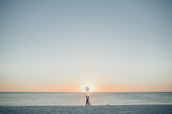 sunset - best beach wedding photographer in melbourne - the best beach spots in melbourne for weddings