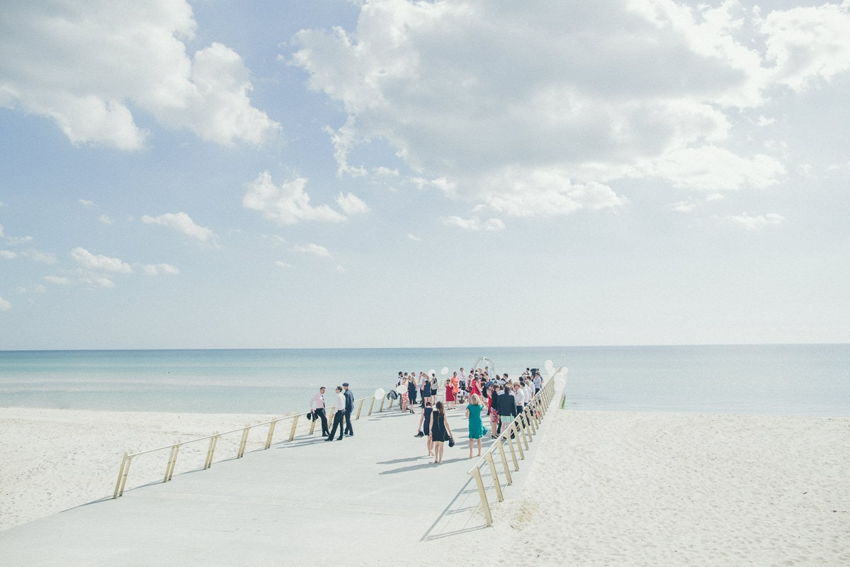 wedding photographer captures melbourne beach wedding in summer
