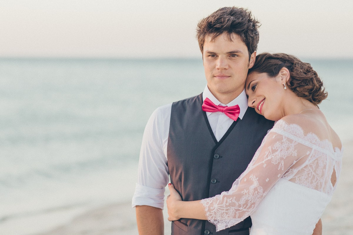 love - emotion at beach wedding - we love photographing beach weddings in melbourne