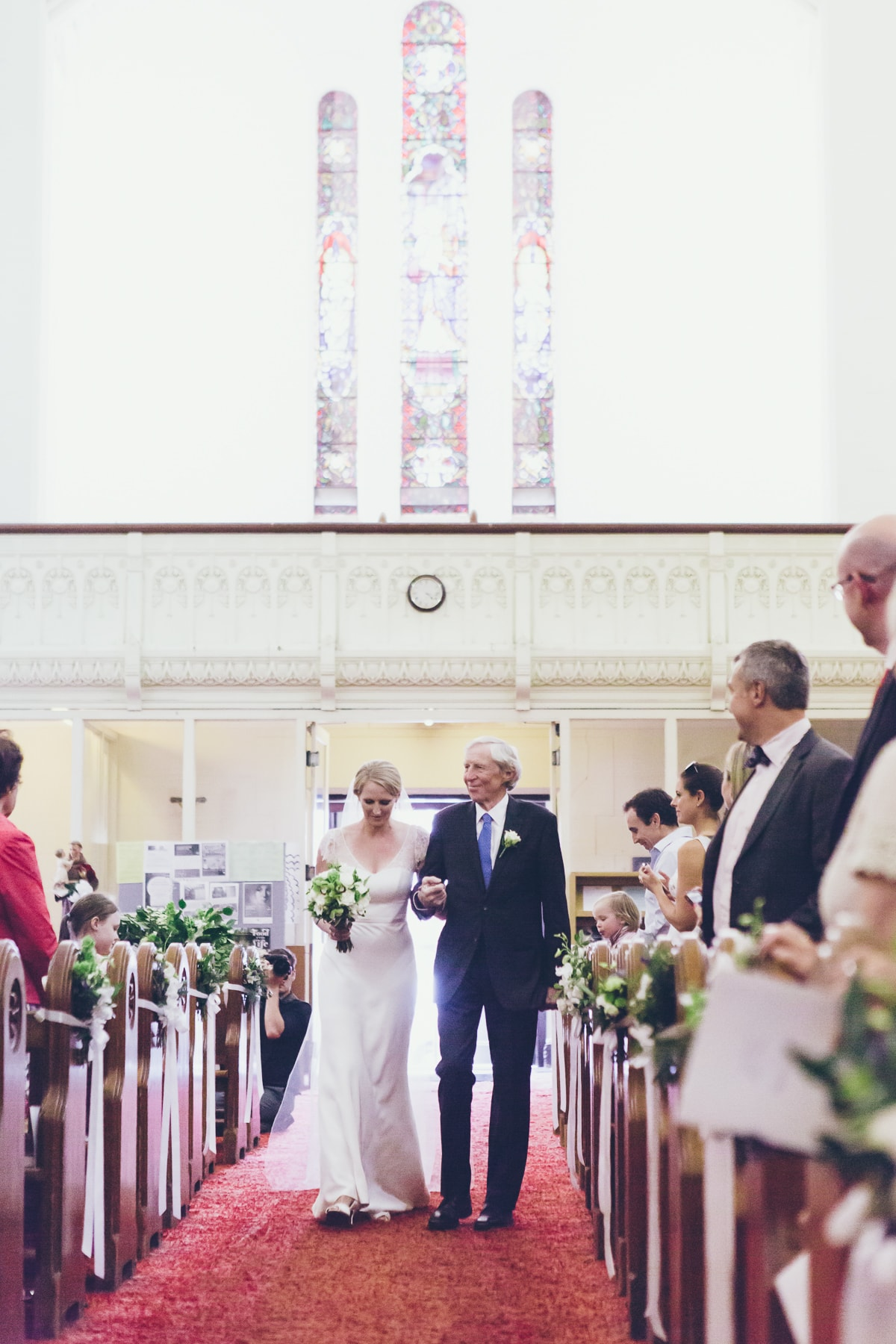 wedding couple - just hitched