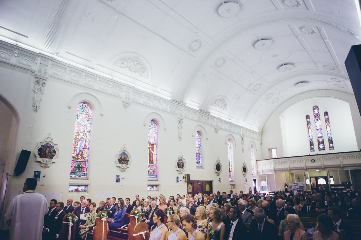 couch in elwood - wedding ceremony at st colombas church in elwood