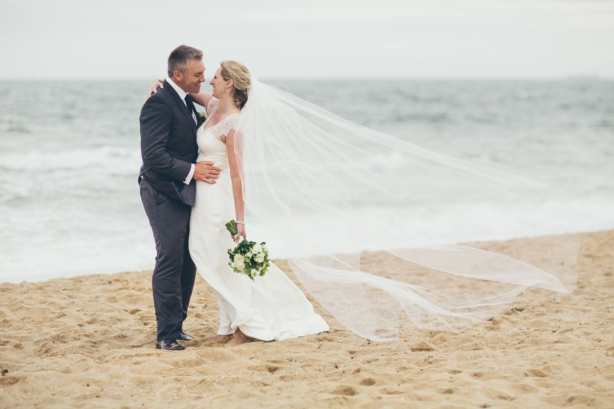 wedding at beach in melbourne