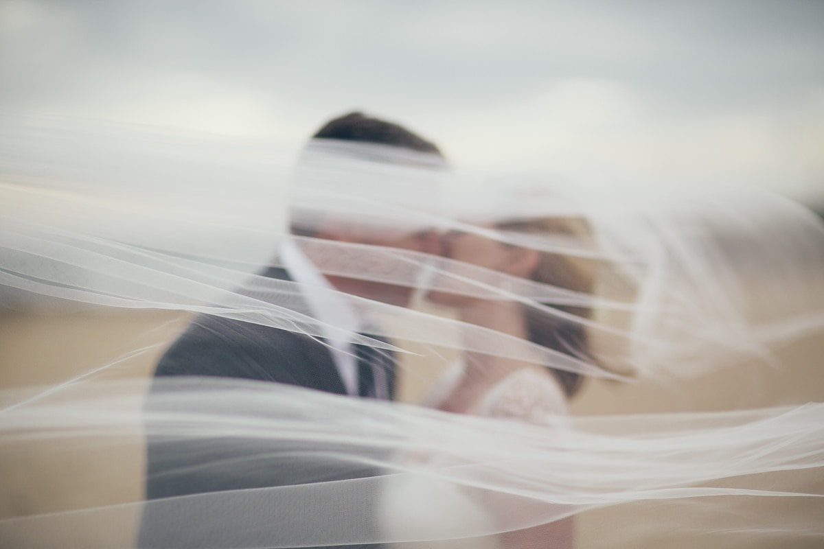 behind the veil - best elwood wedding photographer - blurry arty shot - fine art wedding photography