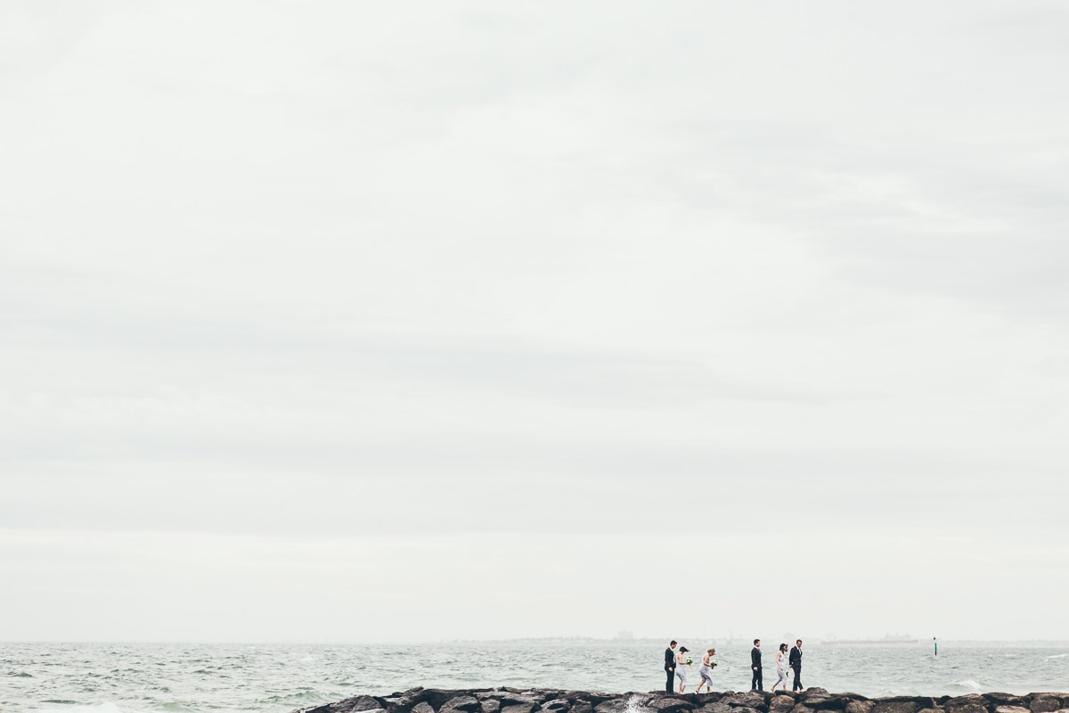 bridal team at beach - best wedding photos