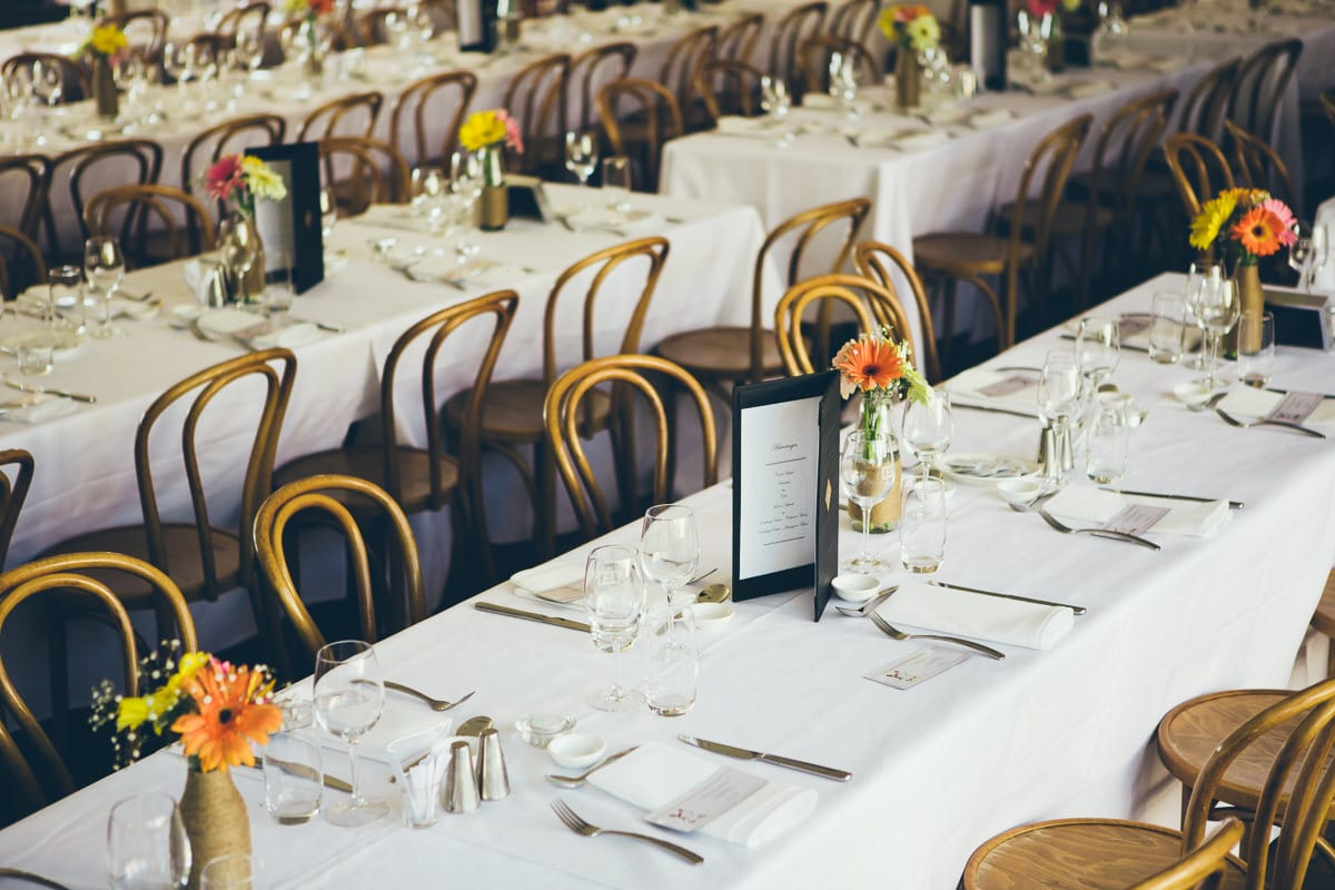 tabels at the boulevard in kew, melbourne - wedding venue
