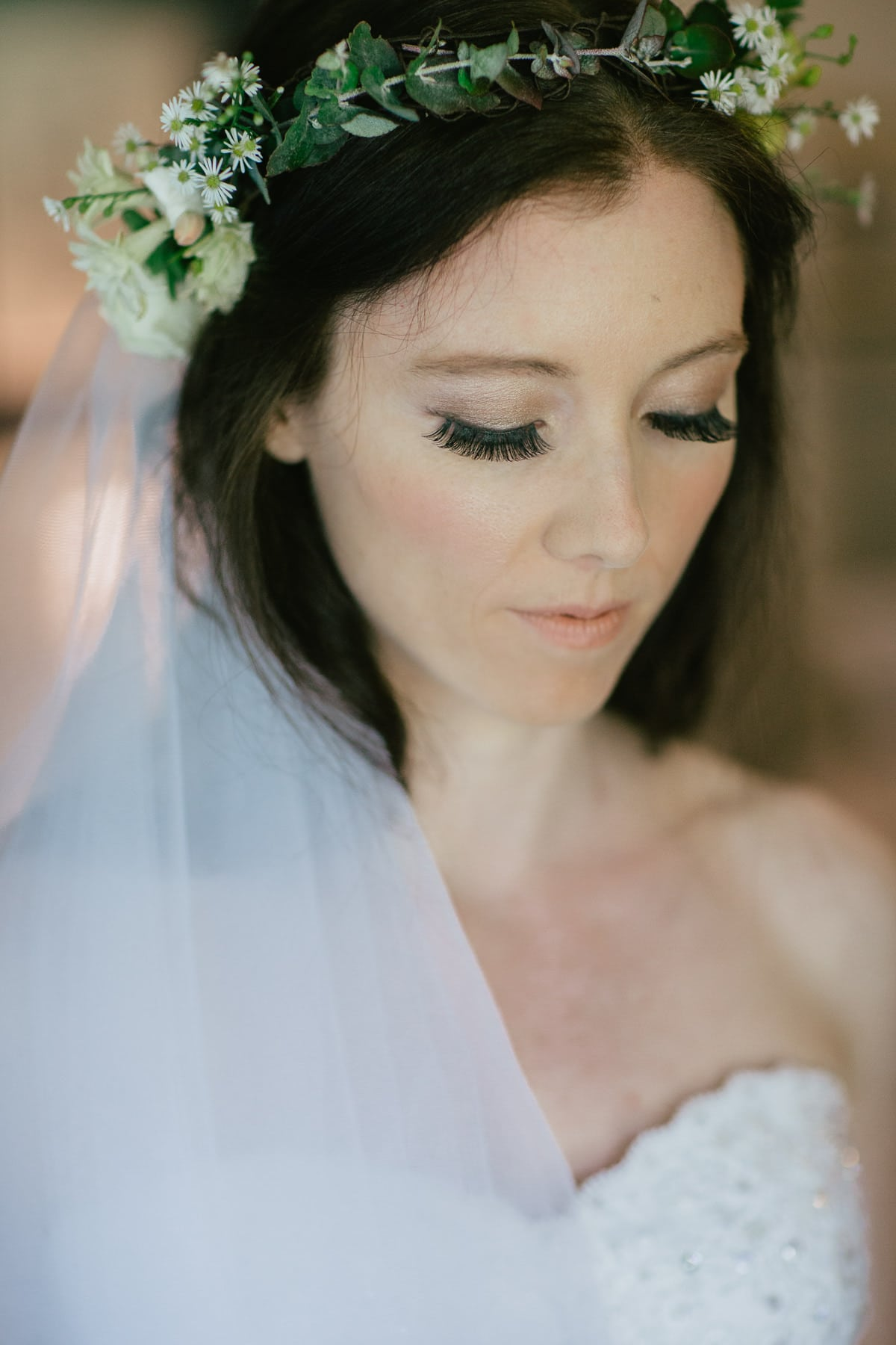 portrait of beautiful melbourne bride