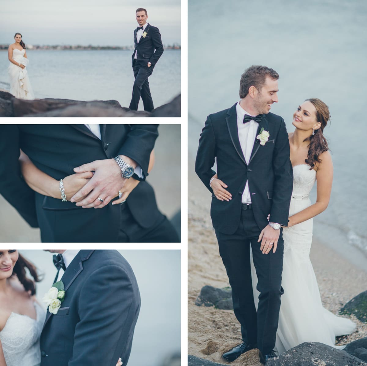 beach wedding photography st kilda
