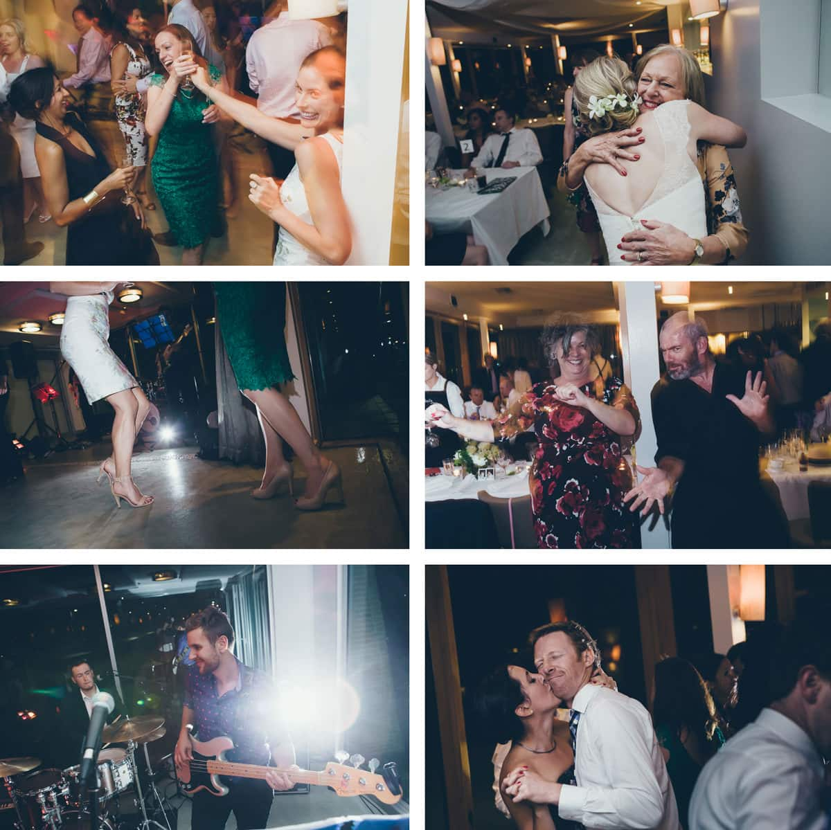 dance at sails on the bay, elwood - wedding photos - action and fun
