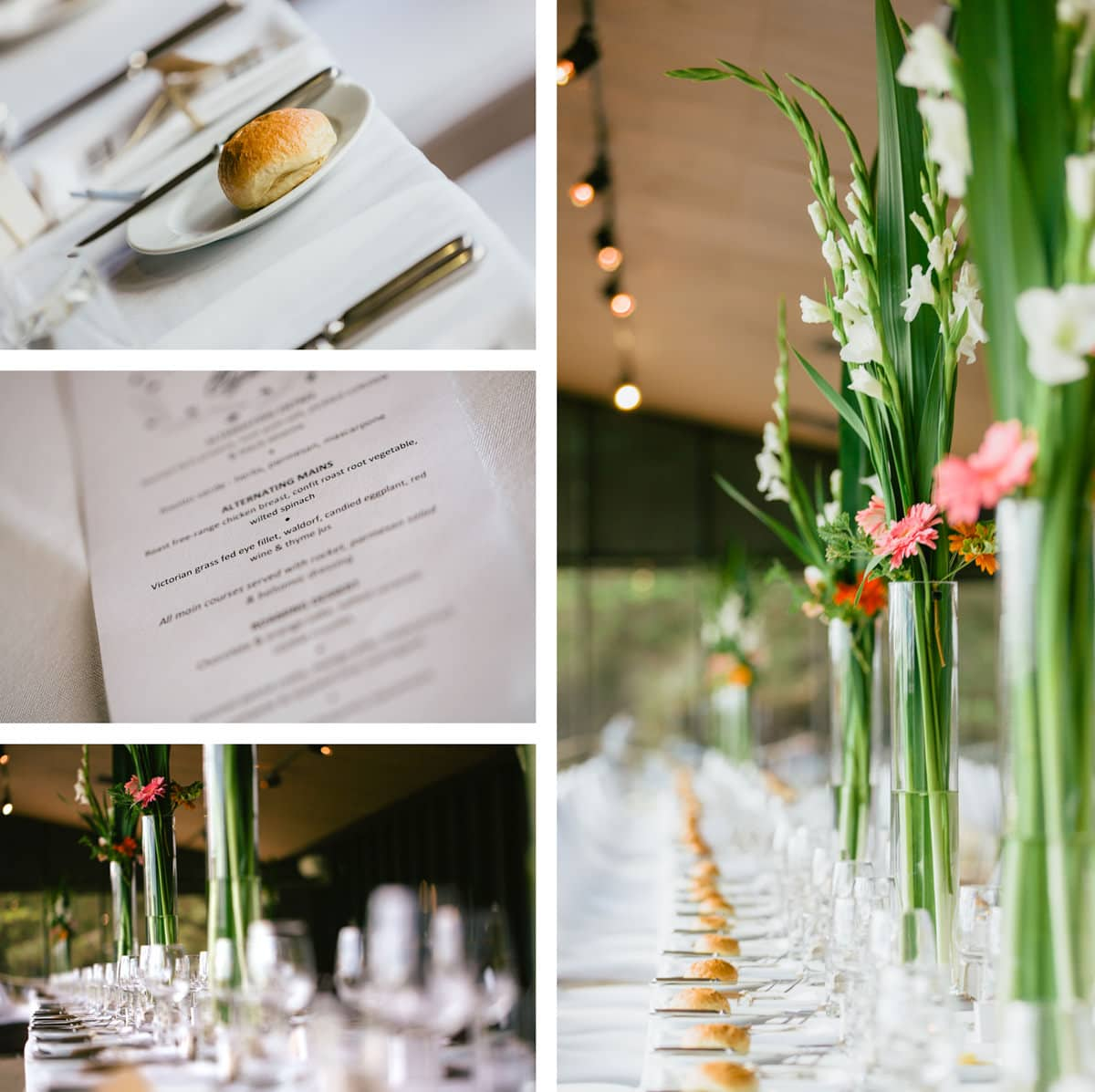 dinner decoration at werribee mansion function at werribee park - photographed by fresh photography Melbourne