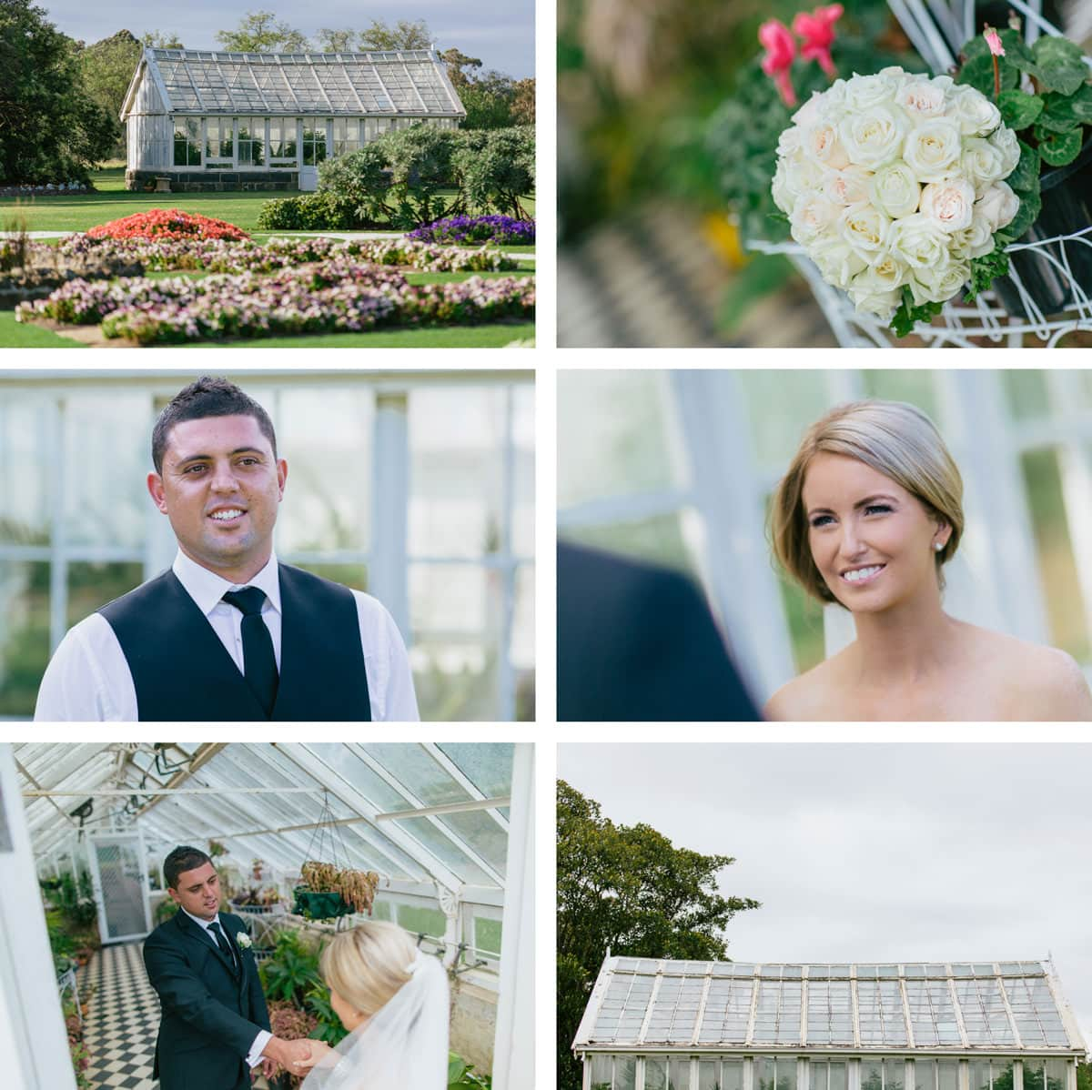 the glasshouse at werribee mansion park is a perfect backdrop for creative wedding photography at werribee mansion - captured by melbourne wedding photographer