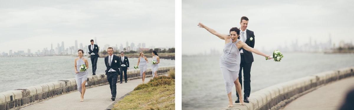 bay wedding in melbourne - stylish bridal team