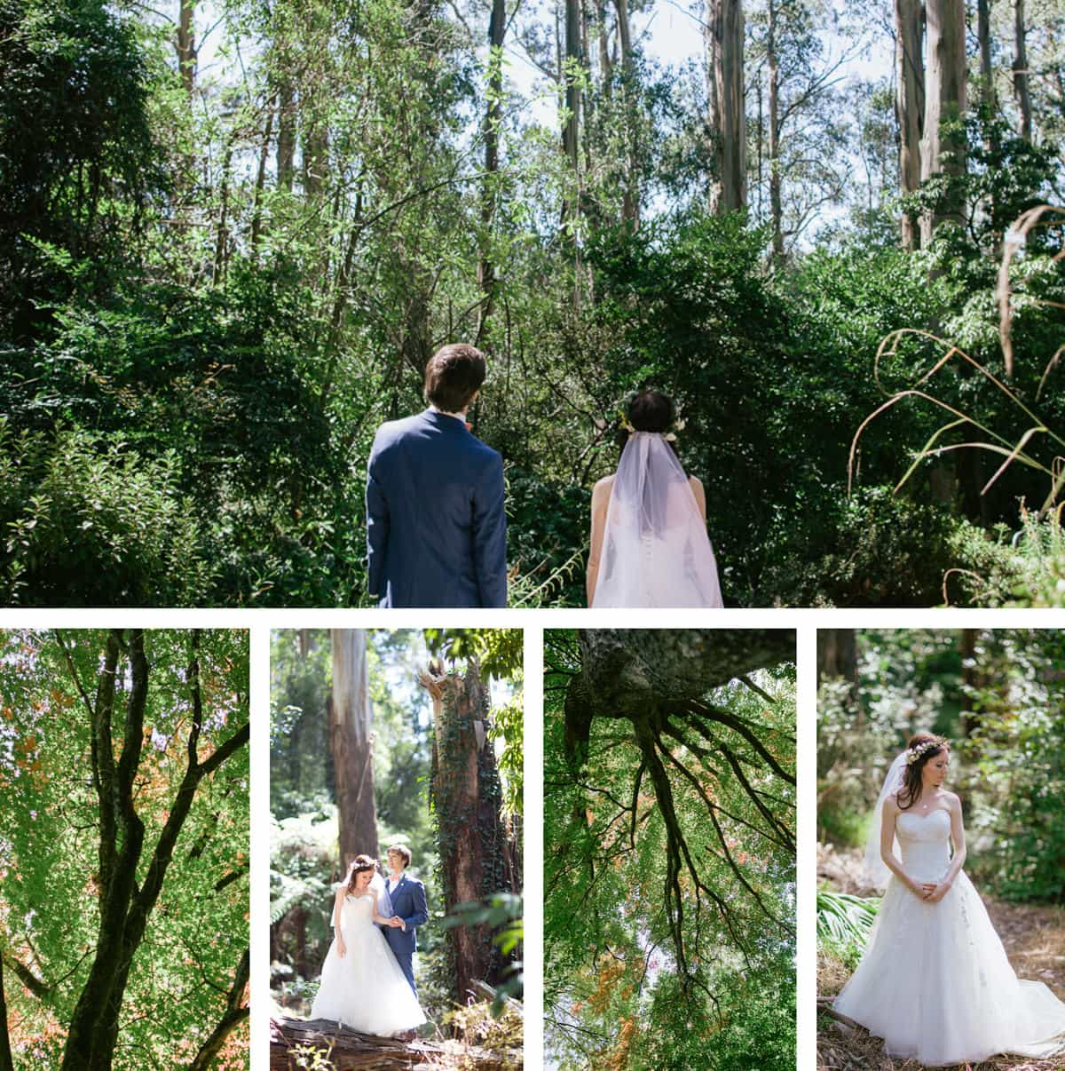 nature wedding photography in melbourne - best photographer for outdoor weddings in melbourne forest