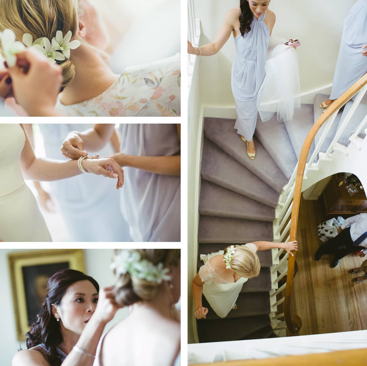 preparation in the morning - bride gets dressed