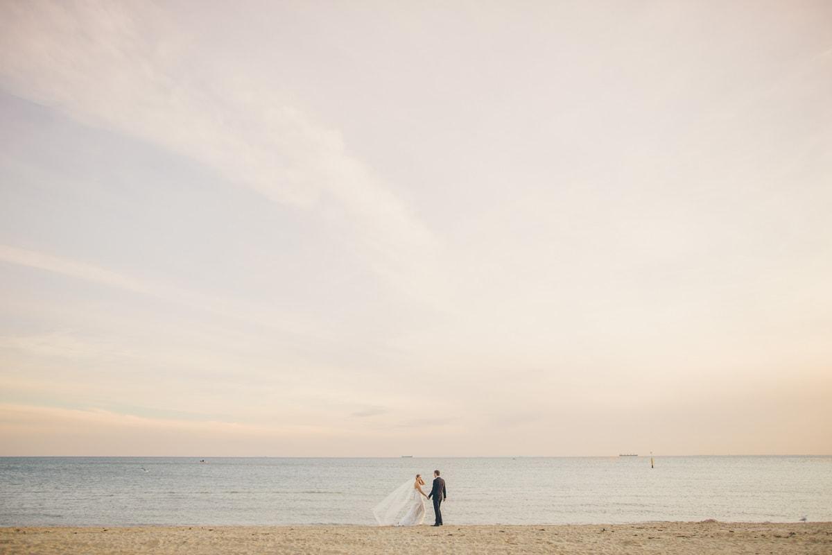 best bech wedding photographer in brighton, sandringham, hampton - melbourne bay beach weddings
