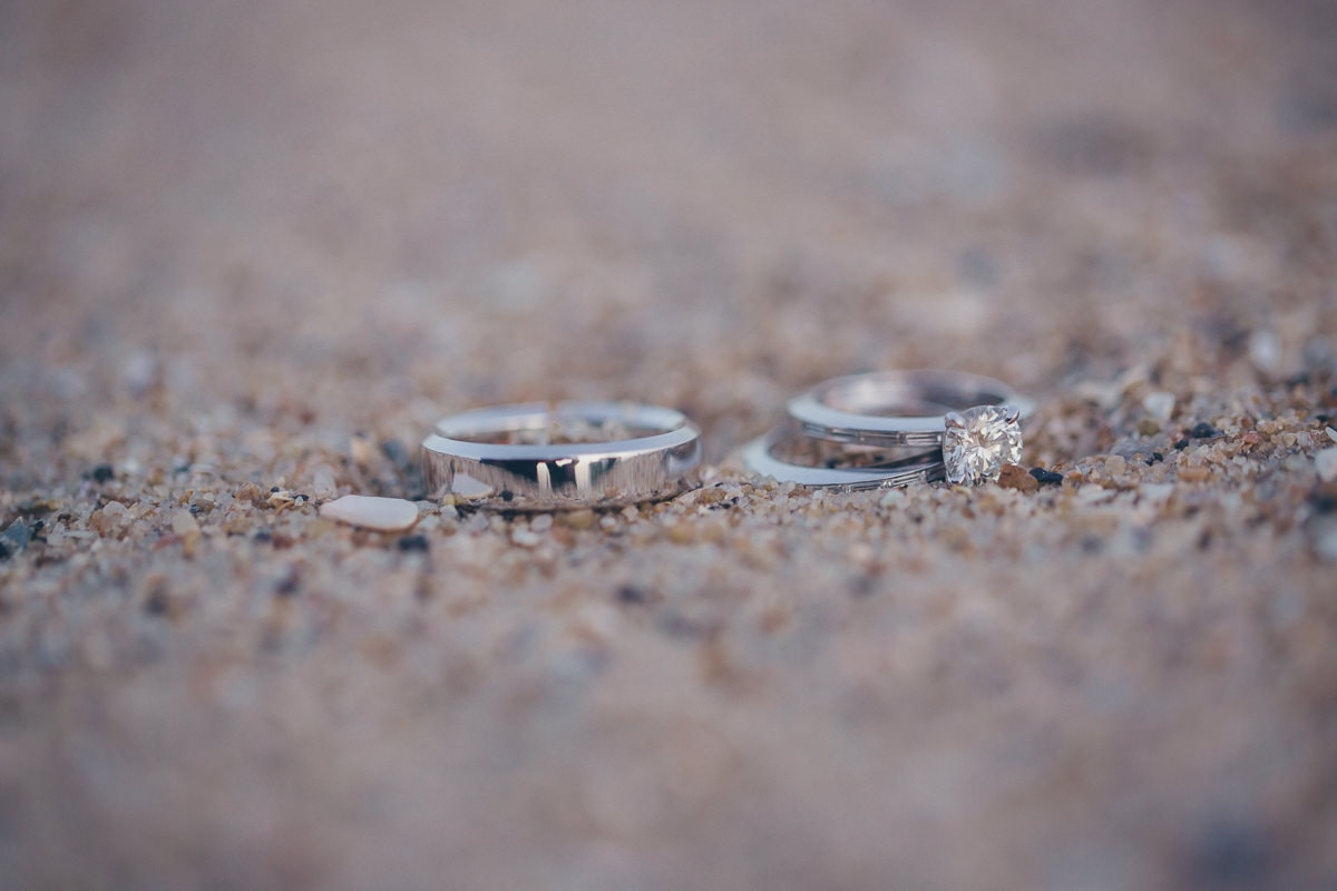 rings on the sand on the beach in melbourne - st. kilda beach photographer