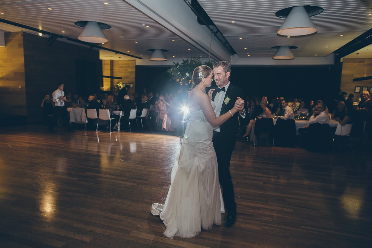the first dance at melbourne  beach wedding photo