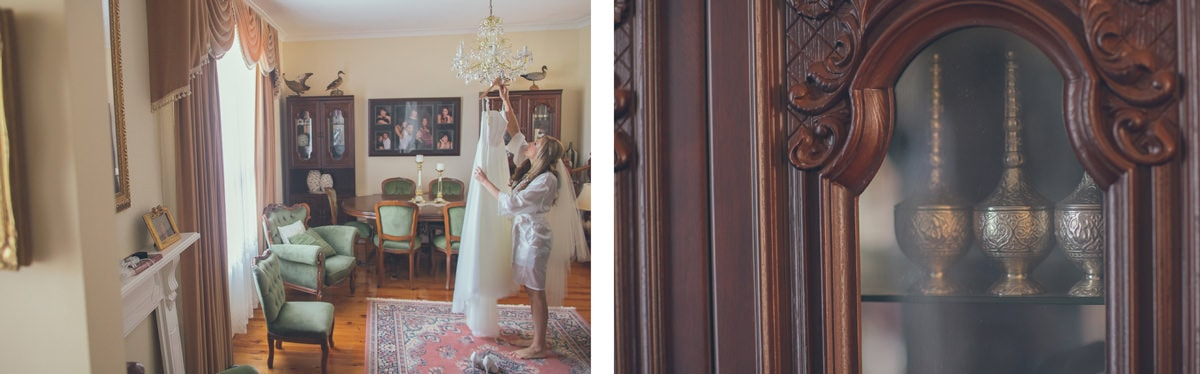 stylish home - bride gets ready