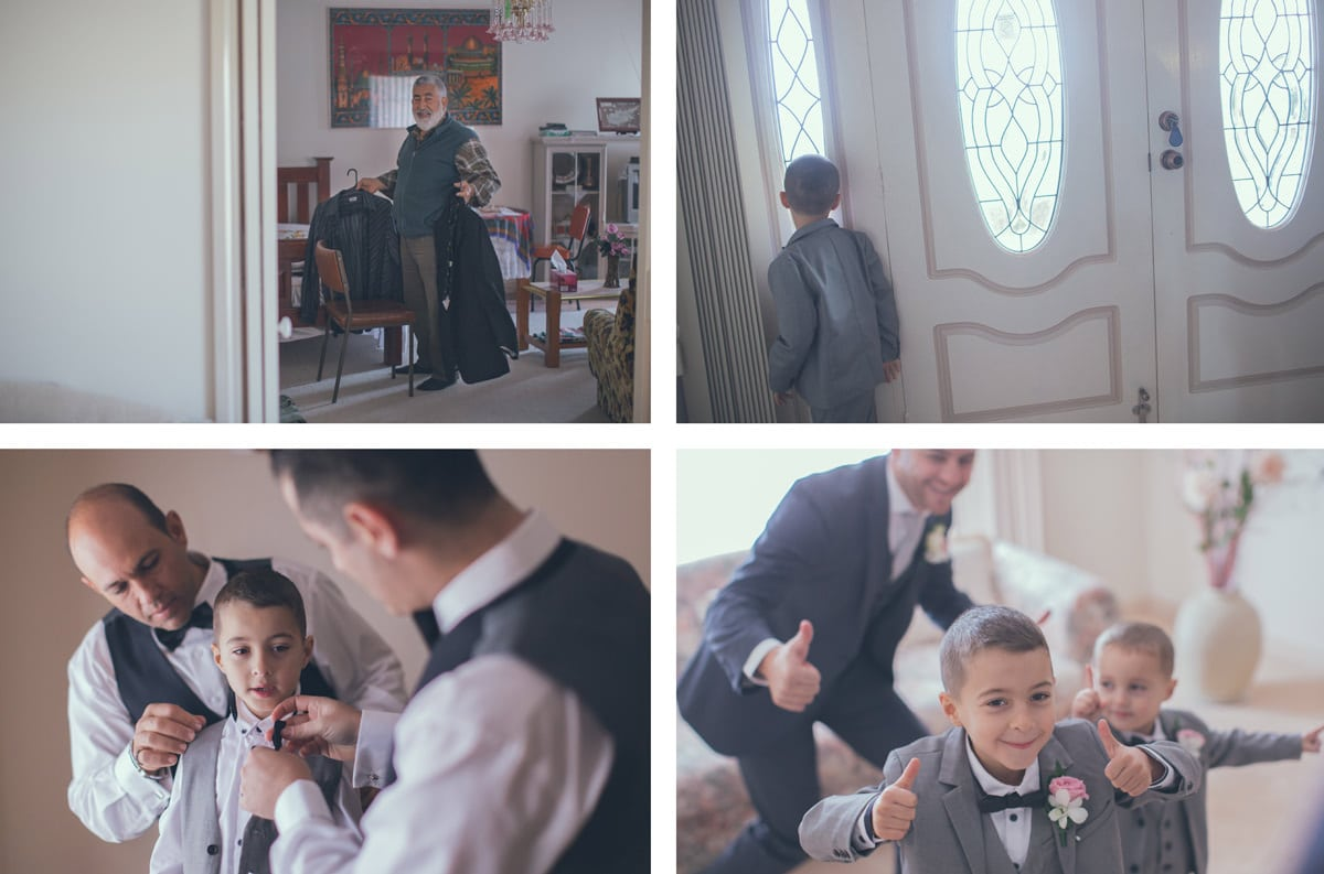 turkish wedding photographer - groom getting ready at parents house