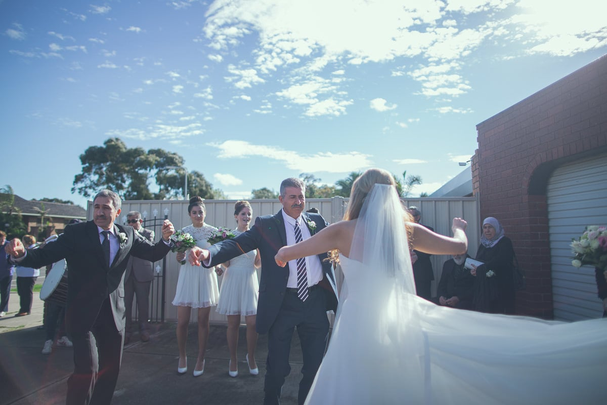 bride dancing with father - turkish wedding traditions in melbourne