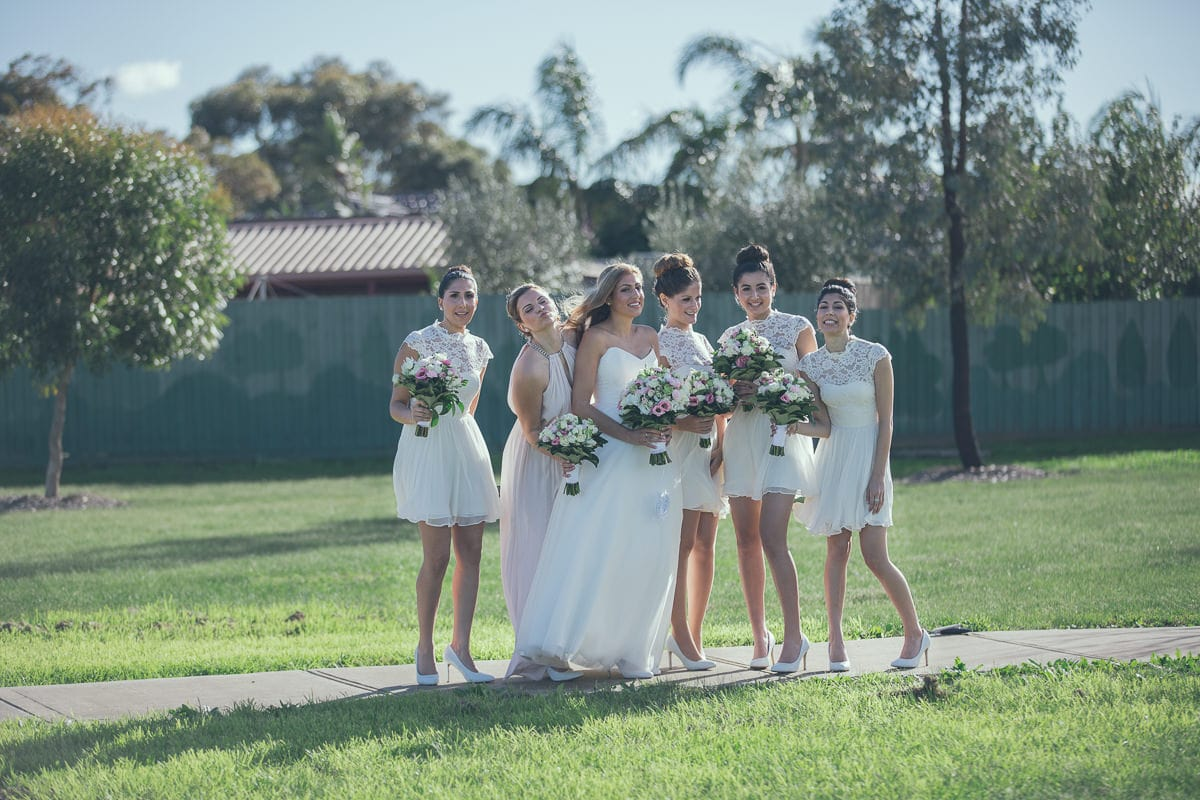 group shot - bride and bridesmaids