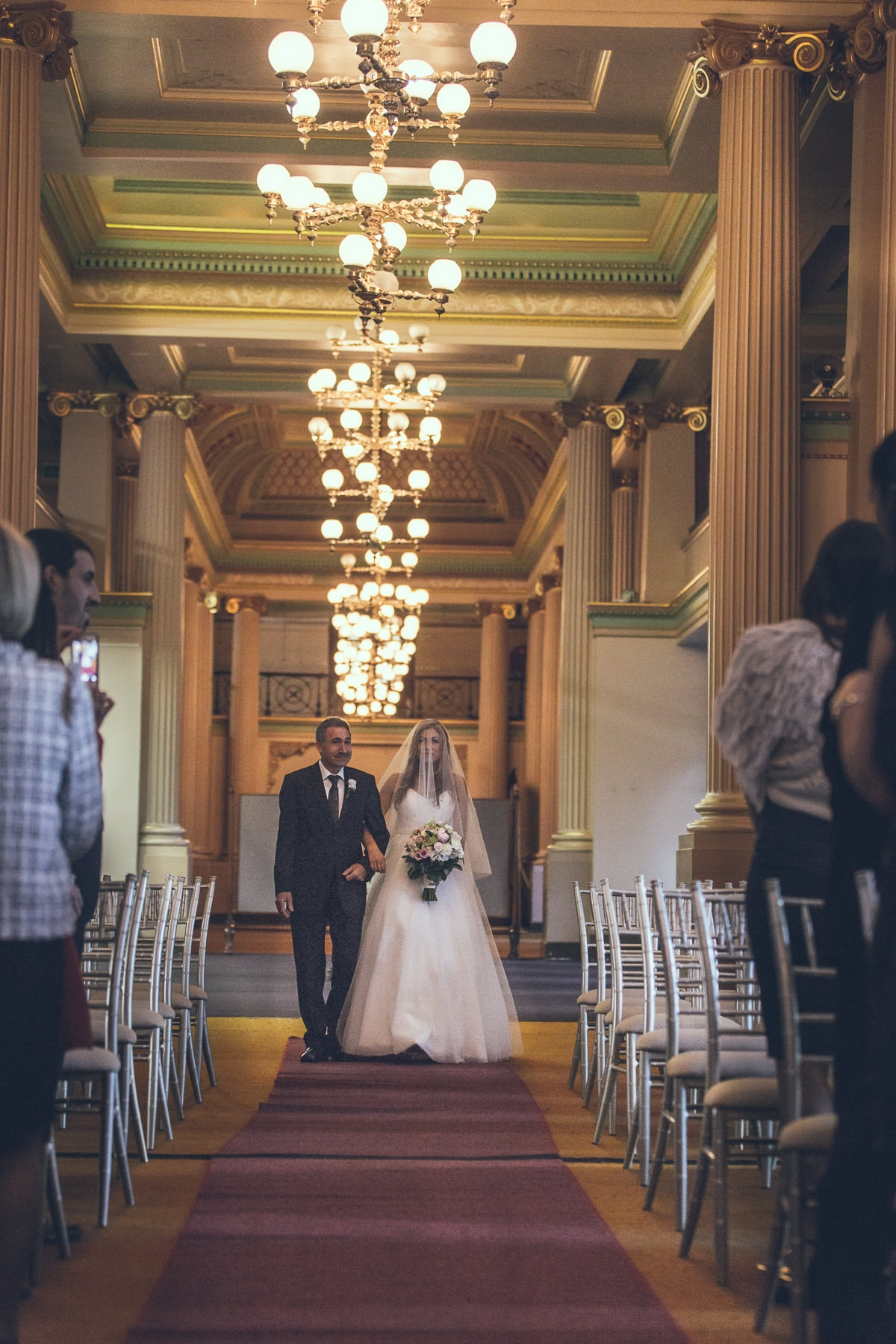 down the aisle - a luxury wedding in a grand ballroom in melbourne - wedding photos