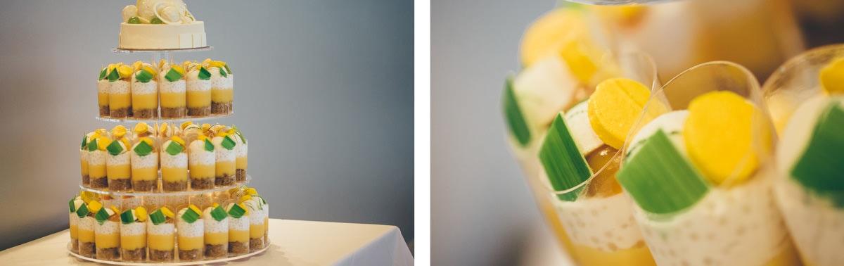 yellow wedding cake - single cups